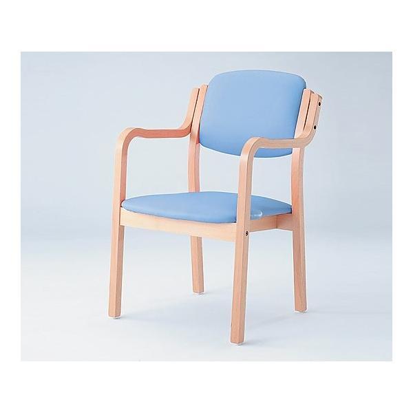 8-4492-02 椅子 (アイリス) (浅型/520×550×800mm/ブルー) SIRS-150-V