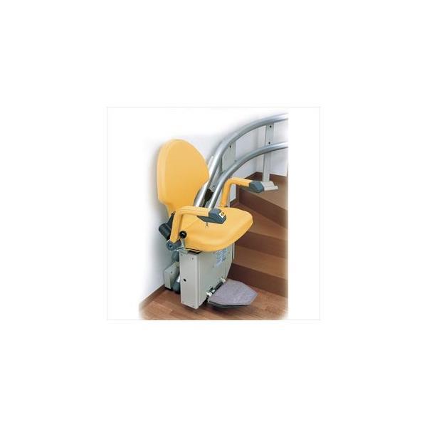(F0075)いす階段昇降機「自由生活」直線型【案管】(クマリフト)(all-f0075)