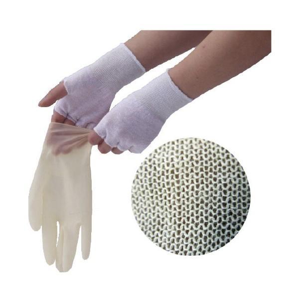 やさしインナー手袋(コットン)指なし GI01(フリー)10ソウ・ミメッキン ヤサシインナーテブクロコットンユビナ(07-2333-00)【1袋単位】