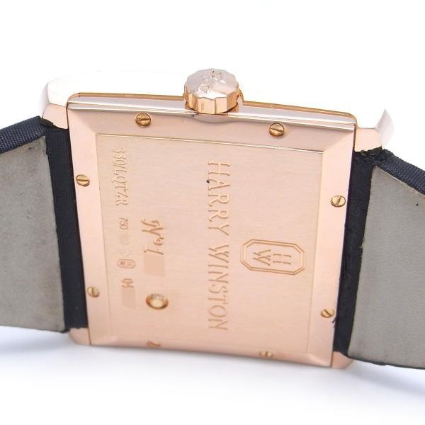 HARRY WINSTON ハリーウィンストン アヴェニュー スクエアード 350LQTZR 腕時計 サテン 750ピンクゴールド レディース 中古 (銀座店)/DH46071