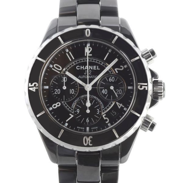 finest selection f4e7e 2d6fc CHANEL シャネル J12 クロノグラフ H0940 腕時計 セラミック ブラック 文字盤 メンズ 中古 (飯能本店)/DH47610