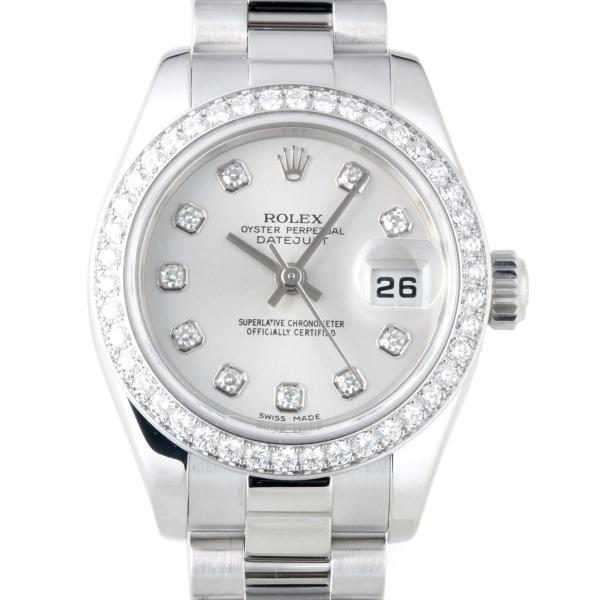 new concept 1528f 2c053 ロレックス デイトジャスト ダイヤモンド ベゼル K番 (02年製) 179136G 腕時計 Pt950プラチナ ROLEX 中古  (飯能本店)/DH47886
