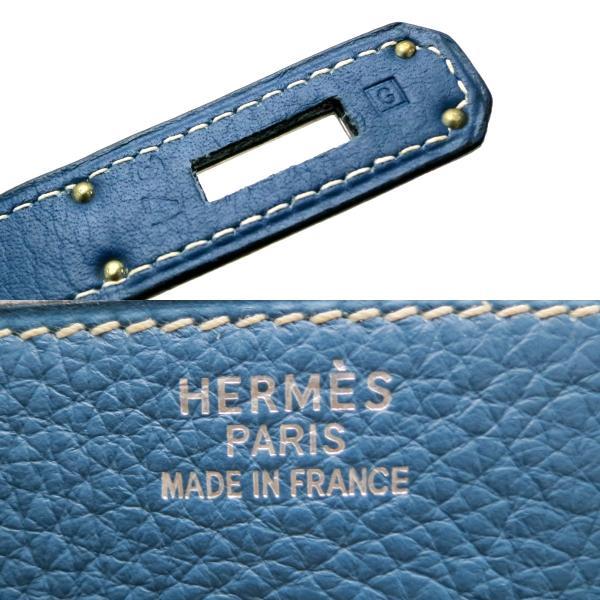 HERMES エルメス バーキン35 □G 刻印ハンドバッグ トリヨンクレマンス ブルータラサ ユニセックス  (銀座店)/DH47921