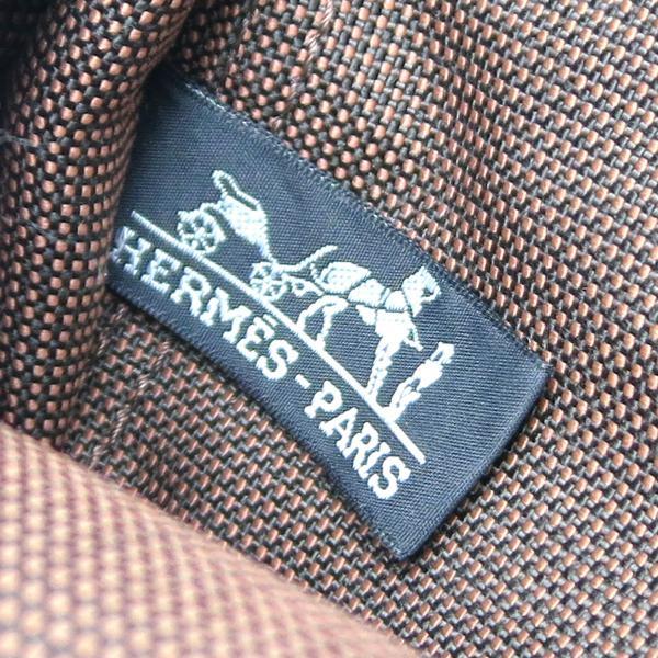 HERMES エルメス エールライン アド バックパック リュック・デイパック キャンバス ブラウン レディース 中古 (飯能本店)/DH50349