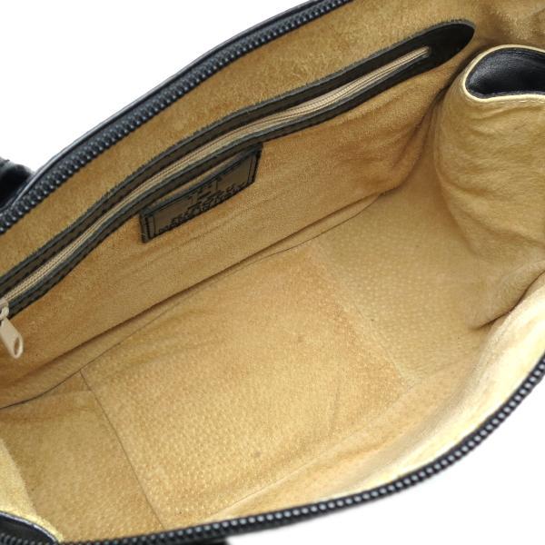 HIROFU ヒロフ 手持ちかばん ハンドバッグ レザー ブラック レディース  (飯能本店)/DH51291