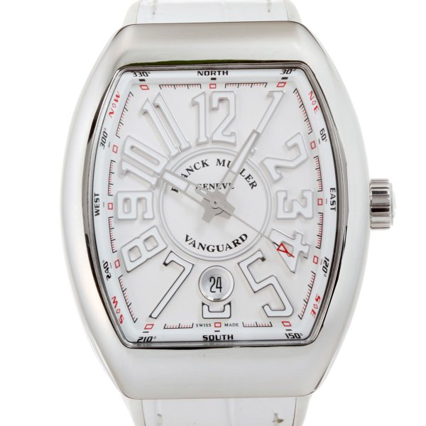 713bd0886d フランクミュラー ヴァンガード V41SCDT 腕時計 ステンレススチール FRANCK MULLER ホワイトアラビアン文字盤 メンズ 中古