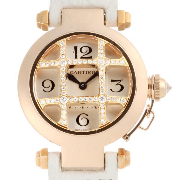 check out 6b07c cef2c カルティエ パシャ32 ドームグリッド ダイヤモンド WJ11963G/2815 腕時計 750ピンクゴールド CARTIER レディース 中古  (銀座店)/DH51891