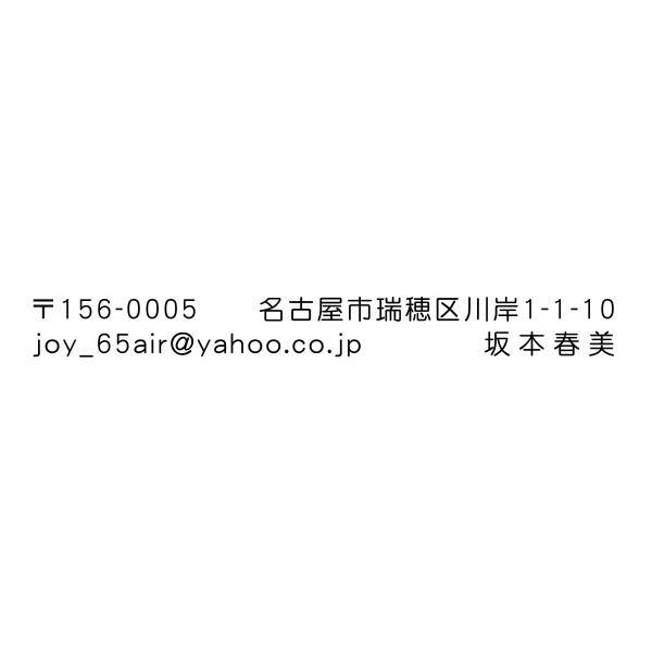 シャチハタ式住所印 浸透印 0.7cmx5.7cm画像確認あり はんこ オーダー 印鑑 スタンプ