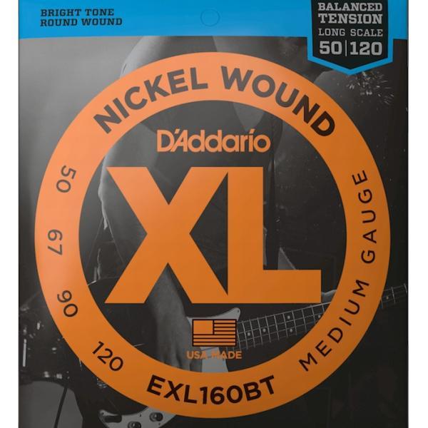 D'Addario EXL160BT Balanced Tension Nickel Wound 050-120 Long Scale ダダリオ ベース弦