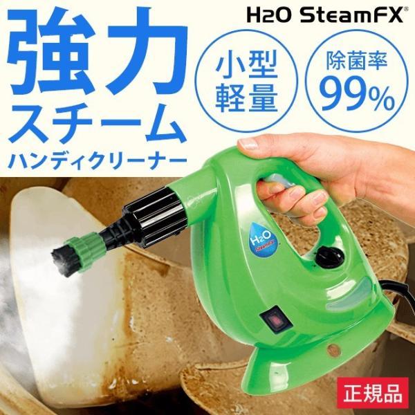 h2o スチームクリーナー スチームモップ ハンディスチーマー ドライスチーム 洗浄  掃除 汚れ 軽量 「H2OスチームFX 8点デラックスセット」|dts
