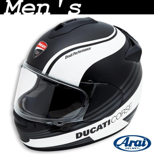 ★Ducati Corse SBK 3 フルフェイスヘルメット サイズL 黒/白 (with Arai)|ducatiosakawest