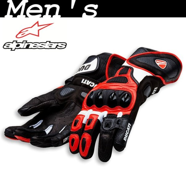 ★Speed Air C1 レザーグローブ 赤 サイズM (with Alpinestars)|ducatiosakawest|01