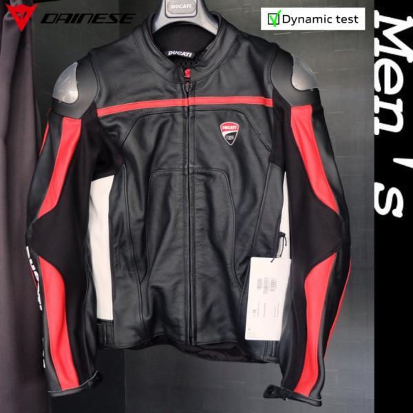 ★2019MODEL★Ducati Corse C4 レザージャケット 黒/白 標準仕様 サイズ50 (with DAINESE)|ducatiosakawest