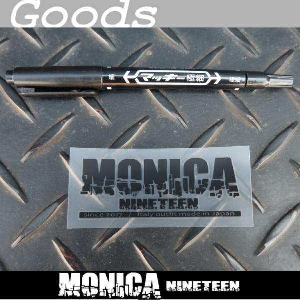 ★MONICA NINETEEN アプリケーションステッカー 黒 75×29mm ducatiosakawest