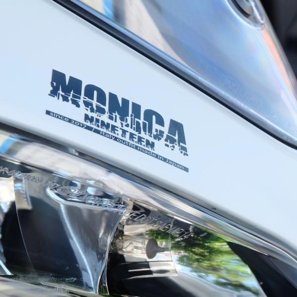 ★MONICA NINETEEN アプリケーションステッカー 黒 75×29mm ducatiosakawest 04