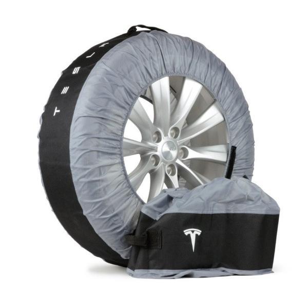 テスラ純正 モデル S X 3 用 タイヤトート タイヤカバー 2本用set TESLA MODEL S.Model X .Model 3 Tire Tote|ducatism