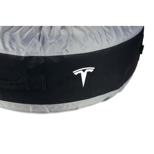 テスラ純正 モデル S X 3 用 タイヤトート タイヤカバー 2本用set TESLA MODEL S.Model X .Model 3 Tire Tote|ducatism|03