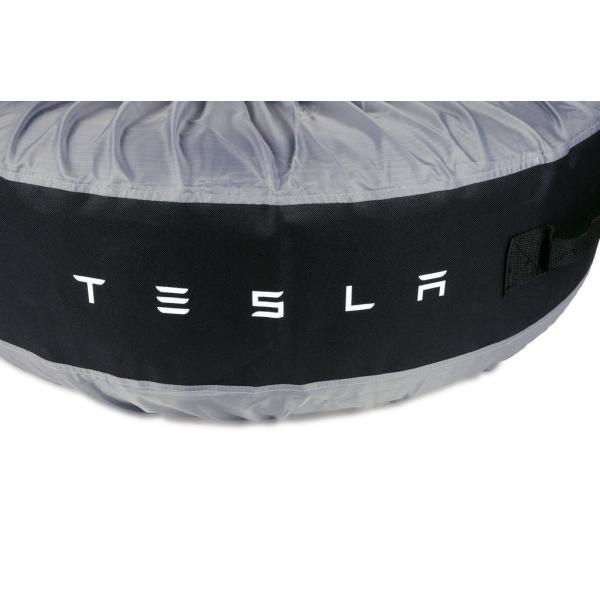 テスラ純正 モデル S X 3 用 タイヤトート タイヤカバー 2本用set TESLA MODEL S.Model X .Model 3 Tire Tote|ducatism|04