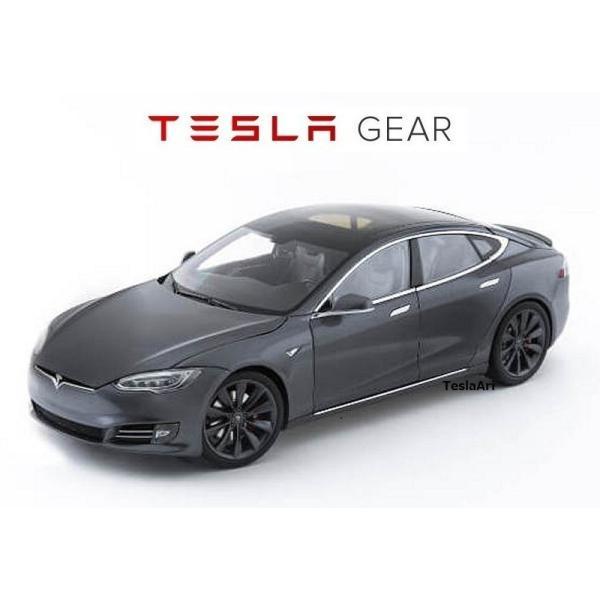 TESLA Diecast 1:18 Scale Model S P100D テスラ純正品 ダイキャスト 1/18 モデルS ミッドナイトシルバーメタリック  モデルカー ミニカー|ducatism