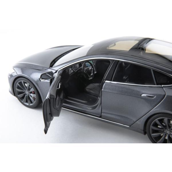 TESLA Diecast 1:18 Scale Model S P100D テスラ純正品 ダイキャスト 1/18 モデルS ミッドナイトシルバーメタリック  モデルカー ミニカー|ducatism|02