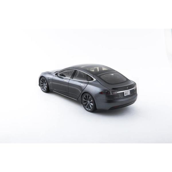 TESLA Diecast 1:18 Scale Model S P100D テスラ純正品 ダイキャスト 1/18 モデルS ミッドナイトシルバーメタリック  モデルカー ミニカー|ducatism|11