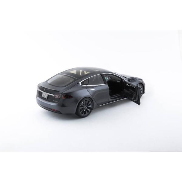 TESLA Diecast 1:18 Scale Model S P100D テスラ純正品 ダイキャスト 1/18 モデルS ミッドナイトシルバーメタリック  モデルカー ミニカー|ducatism|12