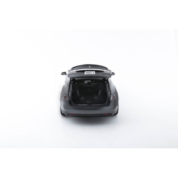 TESLA Diecast 1:18 Scale Model S P100D テスラ純正品 ダイキャスト 1/18 モデルS ミッドナイトシルバーメタリック  モデルカー ミニカー|ducatism|14