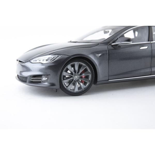 TESLA Diecast 1:18 Scale Model S P100D テスラ純正品 ダイキャスト 1/18 モデルS ミッドナイトシルバーメタリック  モデルカー ミニカー|ducatism|03