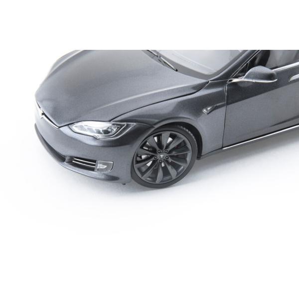 TESLA Diecast 1:18 Scale Model S P100D テスラ純正品 ダイキャスト 1/18 モデルS ミッドナイトシルバーメタリック  モデルカー ミニカー|ducatism|04