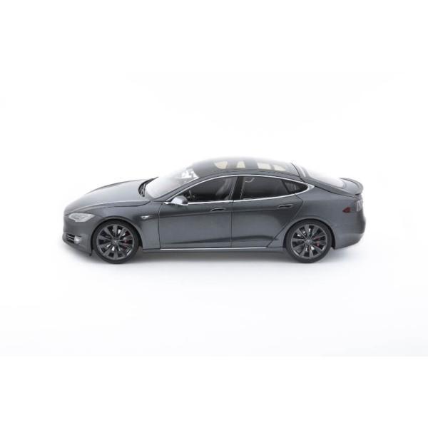 TESLA Diecast 1:18 Scale Model S P100D テスラ純正品 ダイキャスト 1/18 モデルS ミッドナイトシルバーメタリック  モデルカー ミニカー|ducatism|05