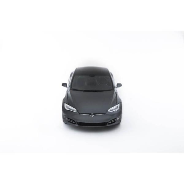 TESLA Diecast 1:18 Scale Model S P100D テスラ純正品 ダイキャスト 1/18 モデルS ミッドナイトシルバーメタリック  モデルカー ミニカー|ducatism|06
