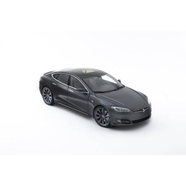 TESLA Diecast 1:18 Scale Model S P100D テスラ純正品 ダイキャスト 1/18 モデルS ミッドナイトシルバーメタリック  モデルカー ミニカー|ducatism|08