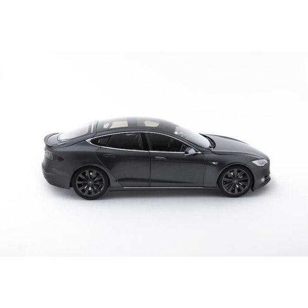 TESLA Diecast 1:18 Scale Model S P100D テスラ純正品 ダイキャスト 1/18 モデルS ミッドナイトシルバーメタリック  モデルカー ミニカー|ducatism|09