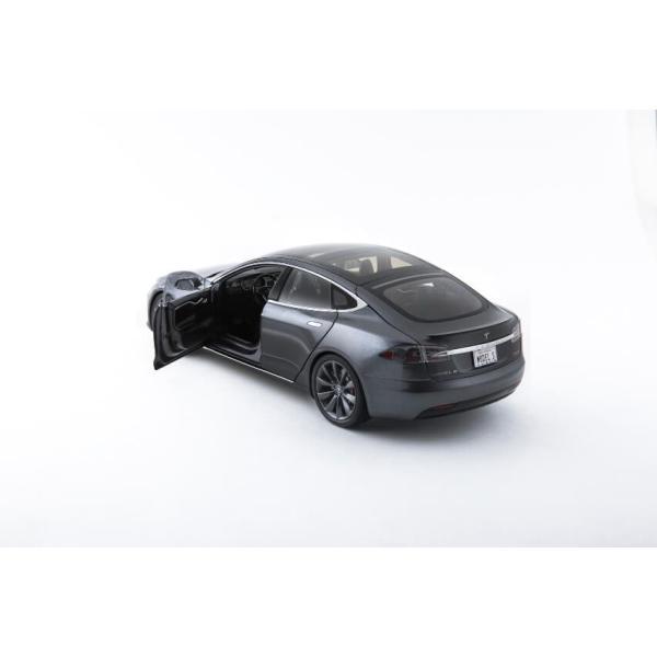 TESLA Diecast 1:18 Scale Model S P100D テスラ純正品 ダイキャスト 1/18 モデルS ミッドナイトシルバーメタリック  モデルカー ミニカー|ducatism|10