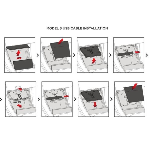 テスラ モデル3 用 携帯チャージャーケーブル 純正品 TESLA Model 3 Phone Charging Cable - Lightning + USB-C Bundle -|ducatism|02