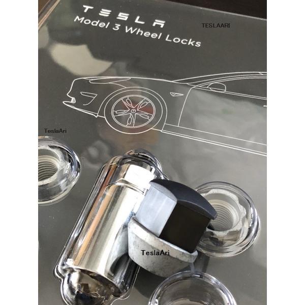 TESLA Model S/X/3 Wheel Lock Set テスラ モデルS/X/3 ホイールロックナットセット 純正品 ducatism 03