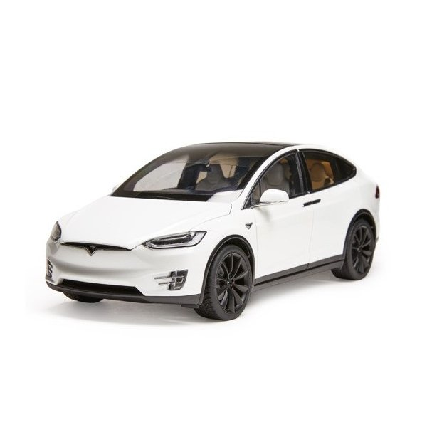 TESLA Diecast 1:18 Scale Model X P100D テスラ純正品 ダイキャスト 1/18 モデルX パールホワイトマルチコート モデルカー ミニカー|ducatism|02