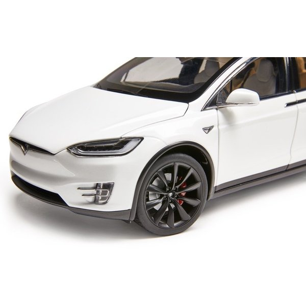 TESLA Diecast 1:18 Scale Model X P100D テスラ純正品 ダイキャスト 1/18 モデルX パールホワイトマルチコート モデルカー ミニカー|ducatism|11