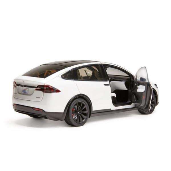 TESLA Diecast 1:18 Scale Model X P100D テスラ純正品 ダイキャスト 1/18 モデルX パールホワイトマルチコート モデルカー ミニカー|ducatism|03