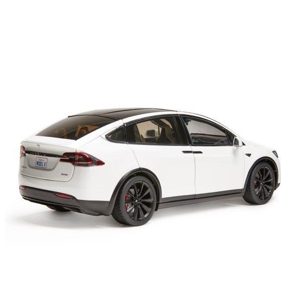 TESLA Diecast 1:18 Scale Model X P100D テスラ純正品 ダイキャスト 1/18 モデルX パールホワイトマルチコート モデルカー ミニカー|ducatism|04