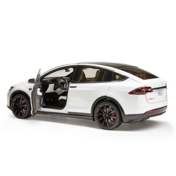 TESLA Diecast 1:18 Scale Model X P100D テスラ純正品 ダイキャスト 1/18 モデルX パールホワイトマルチコート モデルカー ミニカー|ducatism|05