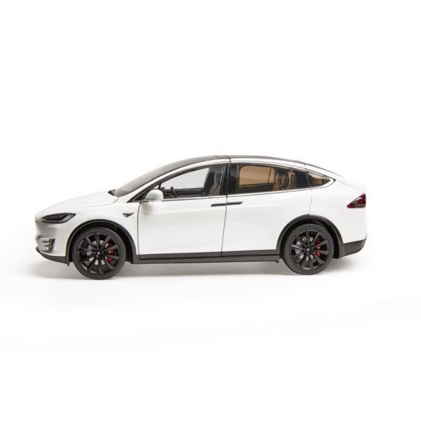 TESLA Diecast 1:18 Scale Model X P100D テスラ純正品 ダイキャスト 1/18 モデルX パールホワイトマルチコート モデルカー ミニカー|ducatism|06