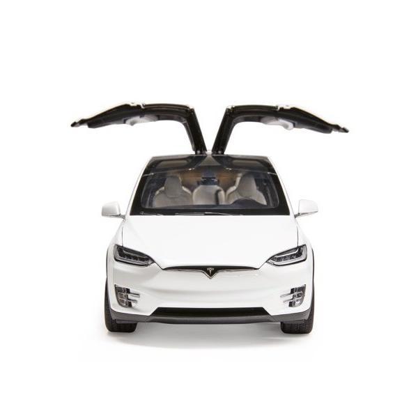 TESLA Diecast 1:18 Scale Model X P100D テスラ純正品 ダイキャスト 1/18 モデルX パールホワイトマルチコート モデルカー ミニカー|ducatism|07