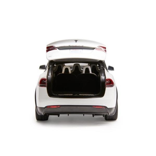 TESLA Diecast 1:18 Scale Model X P100D テスラ純正品 ダイキャスト 1/18 モデルX パールホワイトマルチコート モデルカー ミニカー|ducatism|08