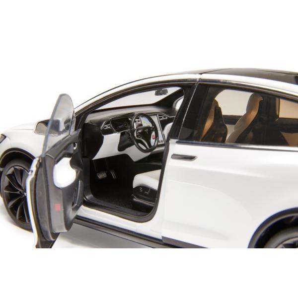 TESLA Diecast 1:18 Scale Model X P100D テスラ純正品 ダイキャスト 1/18 モデルX パールホワイトマルチコート モデルカー ミニカー|ducatism|10
