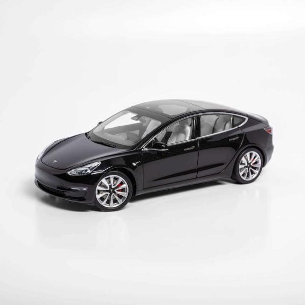 TESLA Diecast 1:18 Scale Model 3 テスラ純正品 ダイキャスト 1/18 モデル3 ブラック モデルカー ミニカー|ducatism