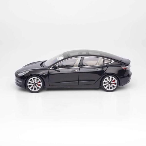 TESLA Diecast 1:18 Scale Model 3 テスラ純正品 ダイキャスト 1/18 モデル3 ブラック モデルカー ミニカー|ducatism|02