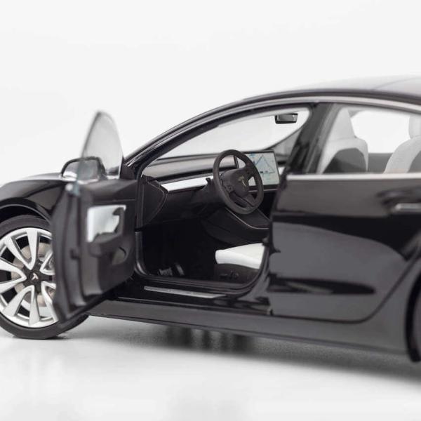 TESLA Diecast 1:18 Scale Model 3 テスラ純正品 ダイキャスト 1/18 モデル3 ブラック モデルカー ミニカー|ducatism|03