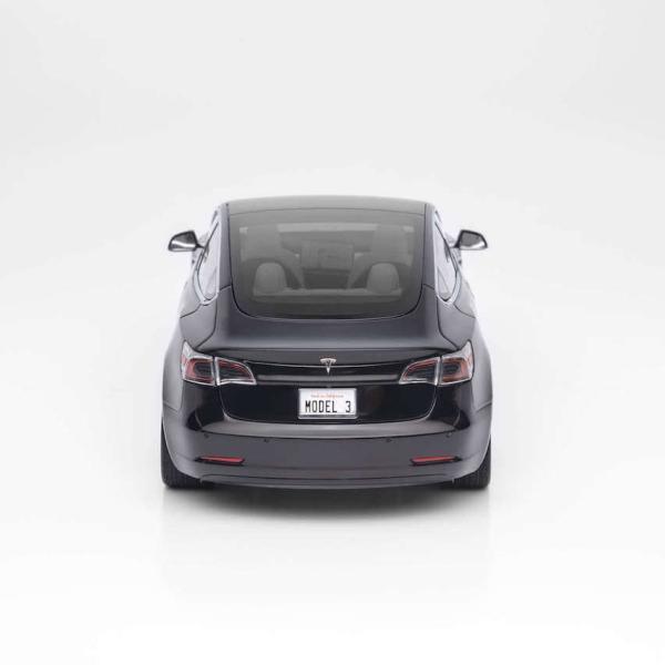 TESLA Diecast 1:18 Scale Model 3 テスラ純正品 ダイキャスト 1/18 モデル3 ブラック モデルカー ミニカー|ducatism|05