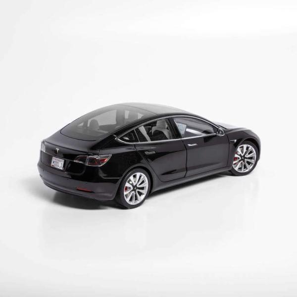 TESLA Diecast 1:18 Scale Model 3 テスラ純正品 ダイキャスト 1/18 モデル3 ブラック モデルカー ミニカー|ducatism|06